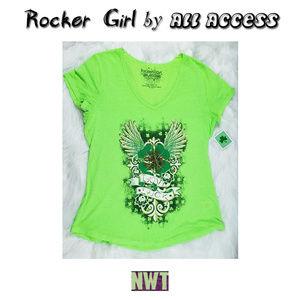 NWT Rocker Girl Love & Luck St Patricks Day Shirt